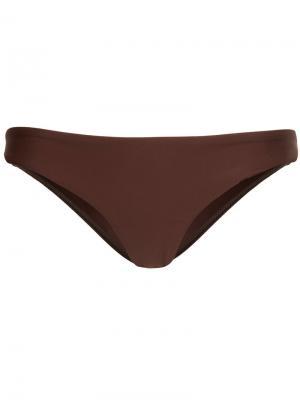 Трусы от купальника Classic Matteau. Цвет: коричневый