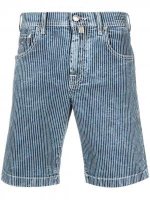 Джинсовые шорты в полоску Jacob Cohen. Цвет: синий