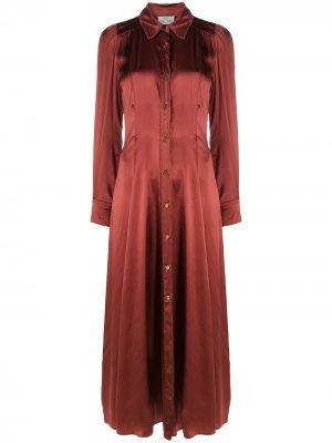 Платье-рубашка со сборками Forte. Цвет: оранжевый