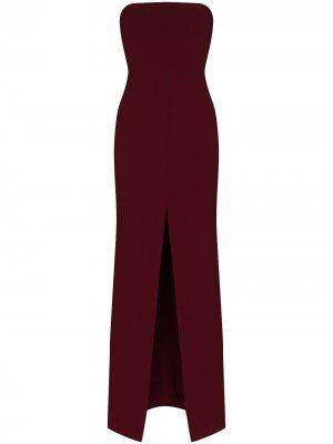 Платье макси Bysha без бретелей Solace London. Цвет: красный