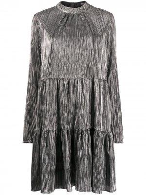 Коктейльное платье с эффектом металлик Steffen Schraut. Цвет: серебристый