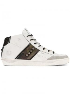 Hi-top sneakers Leather Crown. Цвет: белый