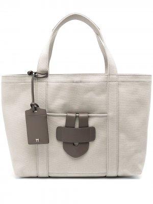 Большая сумка-тоут Tila March. Цвет: серый