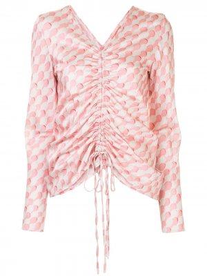 Блузка Drawn To Me с кулиской Maggie Marilyn. Цвет: розовый