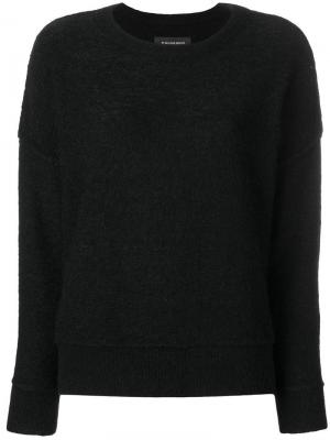Boat neck jumper By Malene Birger. Цвет: черный