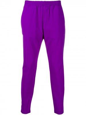 Укороченные брюки с эластичным поясом Hydrogen. Цвет: фиолетовый
