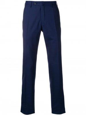 Классические брюки Incotex. Цвет: синий