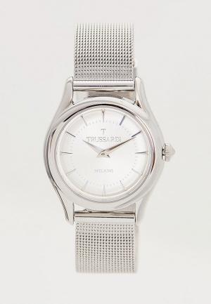 Часы Trussardi. Цвет: серебряный