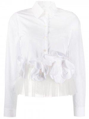Укороченная рубашка Flower Power Viktor & Rolf. Цвет: белый