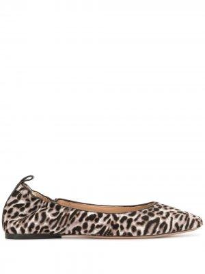 Балетки Alison с леопардовым принтом Veronica Beard. Цвет: коричневый
