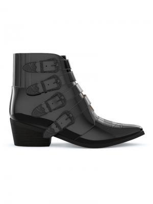 Ботинки AJ006 Toga Pulla. Цвет: черный