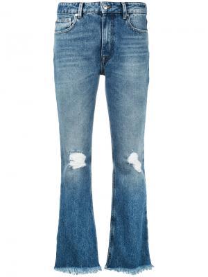 Укороченные джинсы клеш MSGM. Цвет: синий