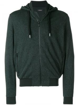 Zipped hoodie Z Zegna. Цвет: зеленый