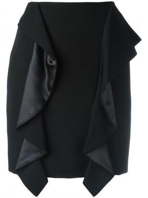 Юбка мини с драпировкой Givenchy. Цвет: черный