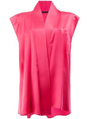 Блузка с запахом Haider Ackermann. Цвет: розовый
