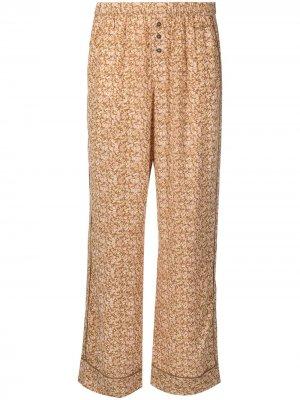 Пижамные брюки с цветочным узором Love Stories. Цвет: нейтральные цвета