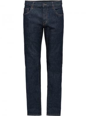 Зауженные джинсы Prada. Цвет: синий