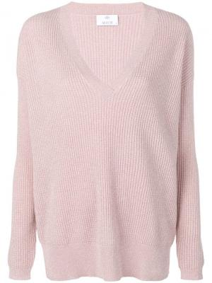 Приталенный свитер с длинными рукавами Allude. Цвет: розовый