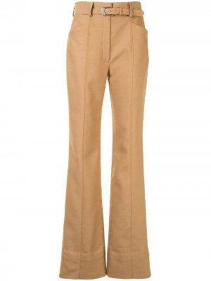 Строгие расклешенные брюки с завышенной талией Proenza Schouler. Цвет: коричневый