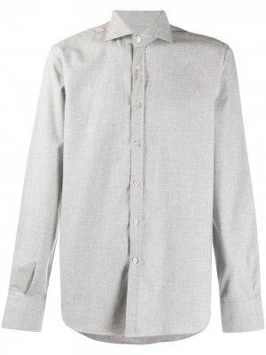 Рубашка с французским воротником Canali. Цвет: серый