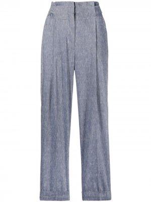 Укороченные брюки прямого кроя Peserico. Цвет: синий