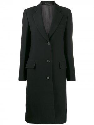 Однобортное пальто Paul Smith. Цвет: черный
