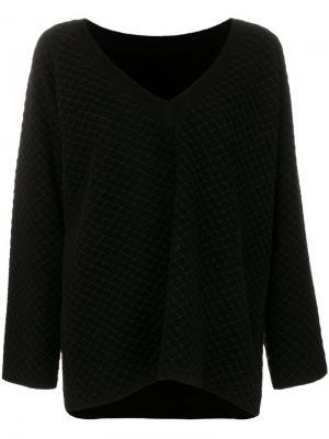 Джемпер крупной вязки с V-образным вырезом Alaïa Vintage. Цвет: черный