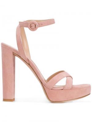 Poppy platform sandals Gianvito Rossi. Цвет: розовый