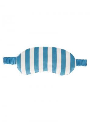 Маска для сна Periwinkle Monogram Morgan Lane. Цвет: синий