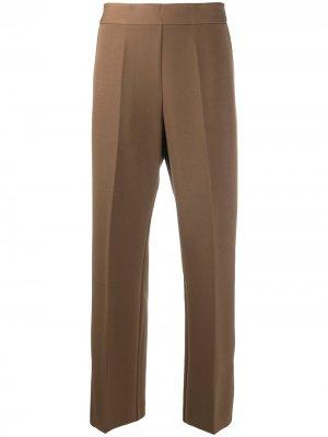 Укороченные брюки с завышенной талией Altea. Цвет: коричневый