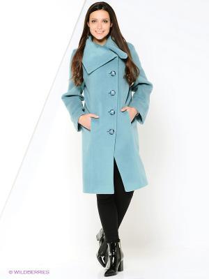 Пальто Amulet. Цвет: голубой