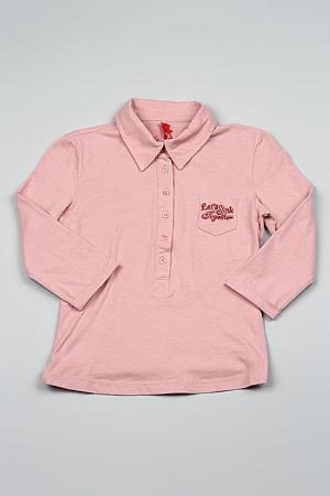 Поло с длинным рукавом Phard. Цвет: розовый
