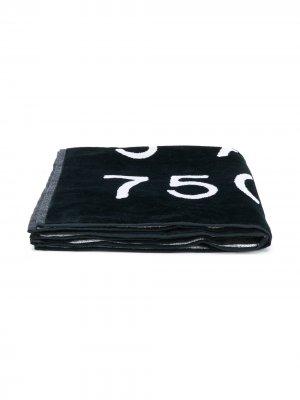 Полотенце с логотипом Givenchy Kids. Цвет: черный
