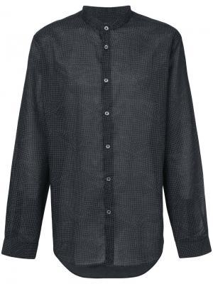 Рубашка с воротником-стойкой John Varvatos. Цвет: черный
