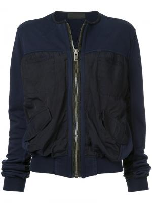 Куртка-бомбер Perth Haider Ackermann. Цвет: синий