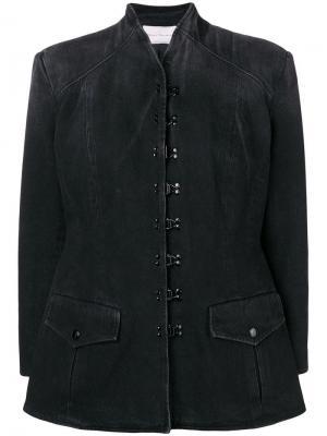Длинная джинсовая юбка Olivier Theyskens. Цвет: серый
