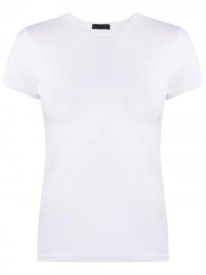 Приталенная футболка с короткими рукавами Atm Anthony Thomas Melillo. Цвет: белый