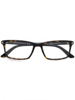 Square frame glasses Tom Ford Eyewear. Цвет: коричневый