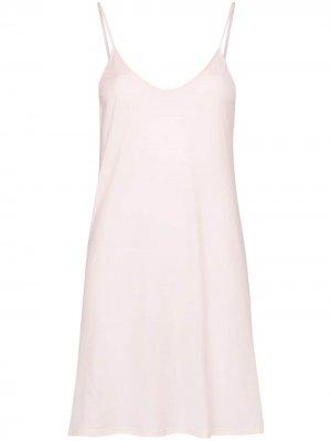 Платье-комбинация мини Skin. Цвет: розовый