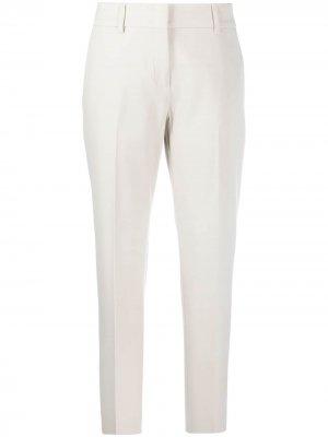 Прямые брюки строгого кроя Piazza Sempione. Цвет: серый