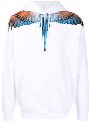 Худи с принтом Wings Marcelo Burlon County of Milan. Цвет: белый