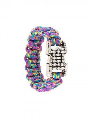 Плетеный браслет Depp Dannijo. Цвет: разноцветный
