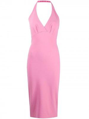 Платье Valorie с вырезом халтер Le Petite Robe Di Chiara Boni. Цвет: розовый