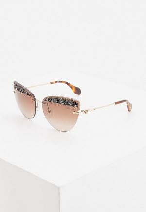 Очки солнцезащитные Blumarine. Цвет: коричневый