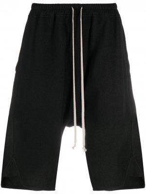 Спортивные шорты с низким шаговым швом Rick Owens. Цвет: черный