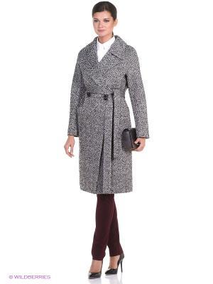 Пальто Anora. Цвет: серый, черный