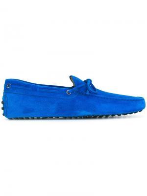 Мокасины Gommini Tod's. Цвет: синий