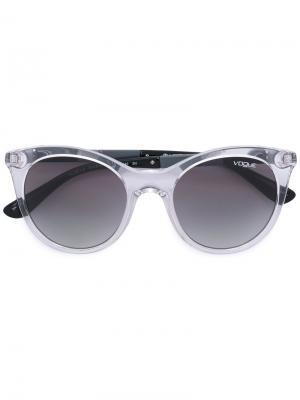Солнцезащитные очки в круглой оправе Vogue Eyewear. Цвет: серый