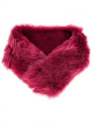 Воротник из искусственного меха Desa 1972. Цвет: розовый и фиолетовый
