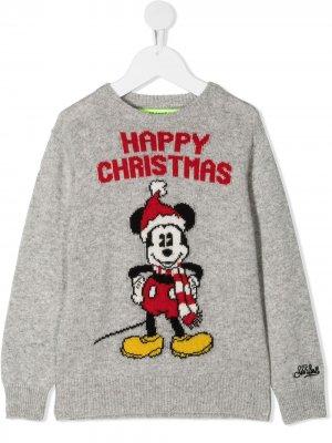 Джемпер Mickey Xmas Mc2 Saint Barth Kids. Цвет: серый